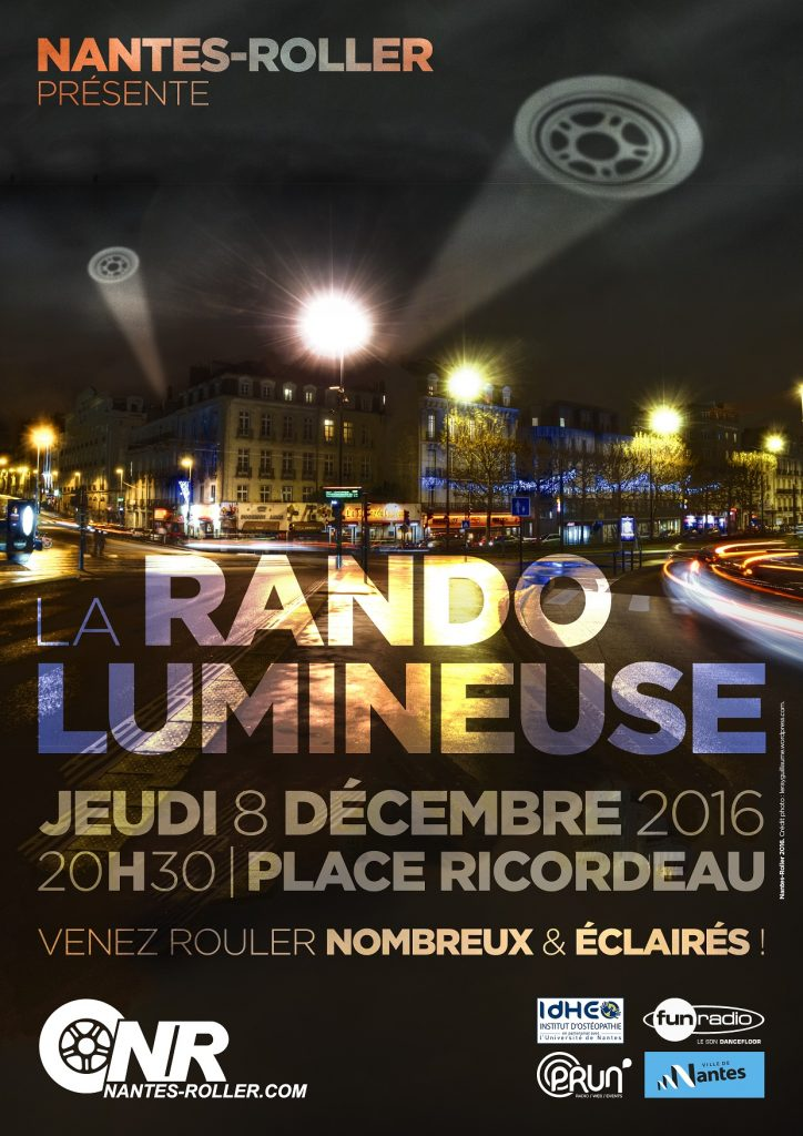 rando lumineuse 2016 jeudi 8 d cembre nantes roller la rando roller nantaise du jeudi soir. Black Bedroom Furniture Sets. Home Design Ideas